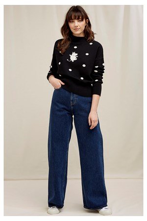 Moomin Dot Jumper In Black
