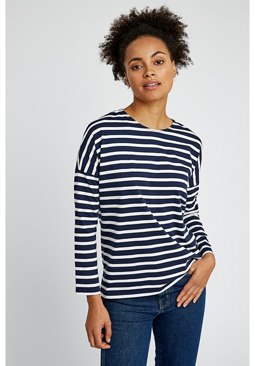 Nerissa Stripe Top in Navy