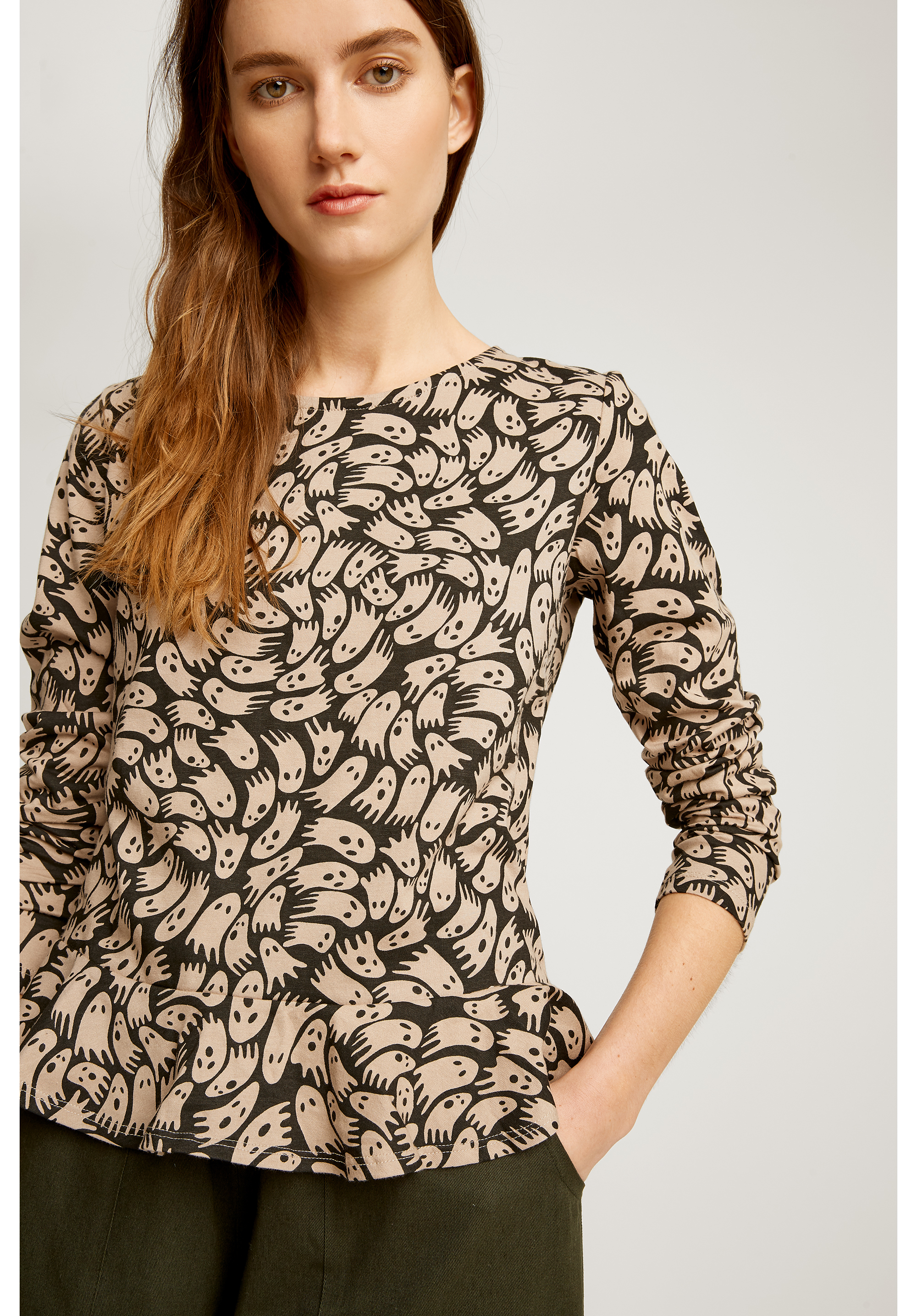 Peter Jensen Ghost Frill Top from People Tree