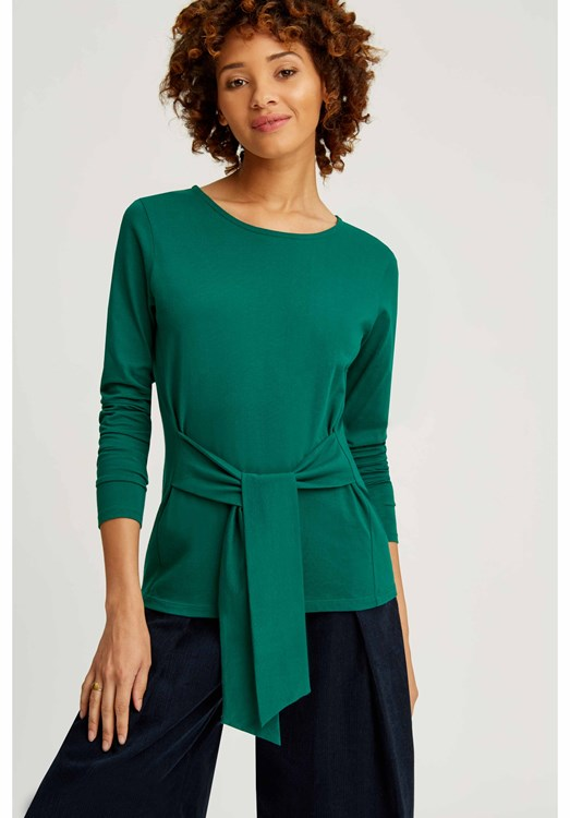 Pippa Tie Top Green