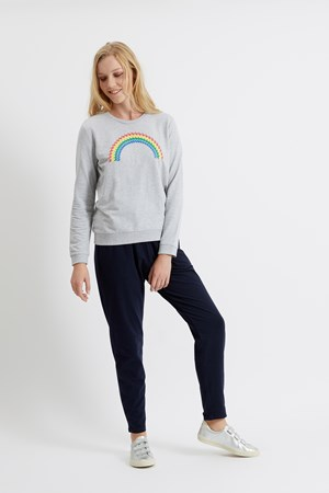 Rainbow Sweatshirt in Grey Melange
