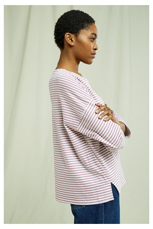 Roma Stripe Top In Pink