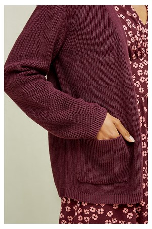 Rowena Cardigan In Burgundy