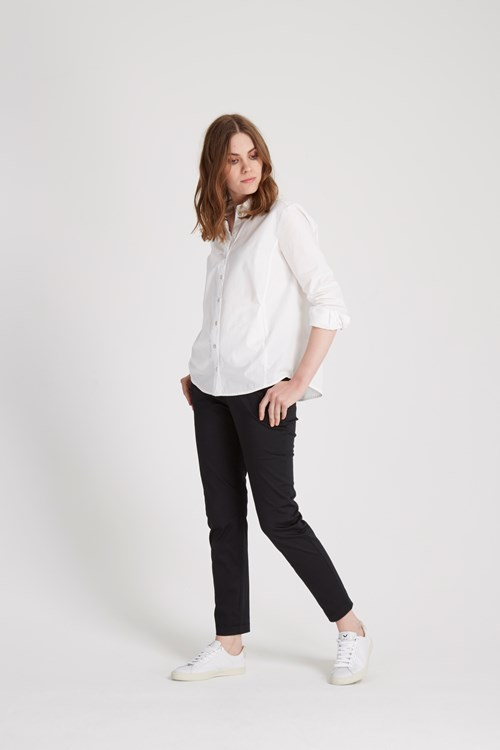 Sophia Poplin Shirt in White