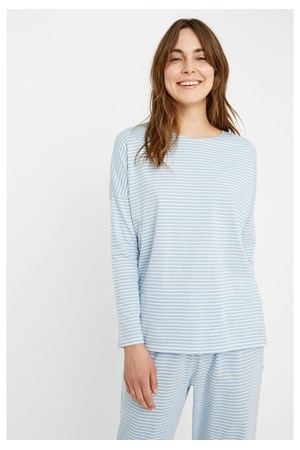Stripe Pyjama Long Sleeve Top