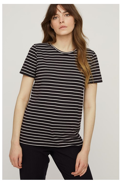 Stripe Tee in Black