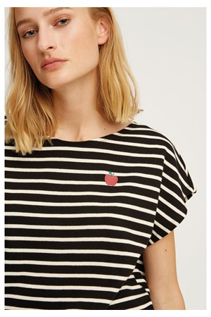 Striped Apple Tee