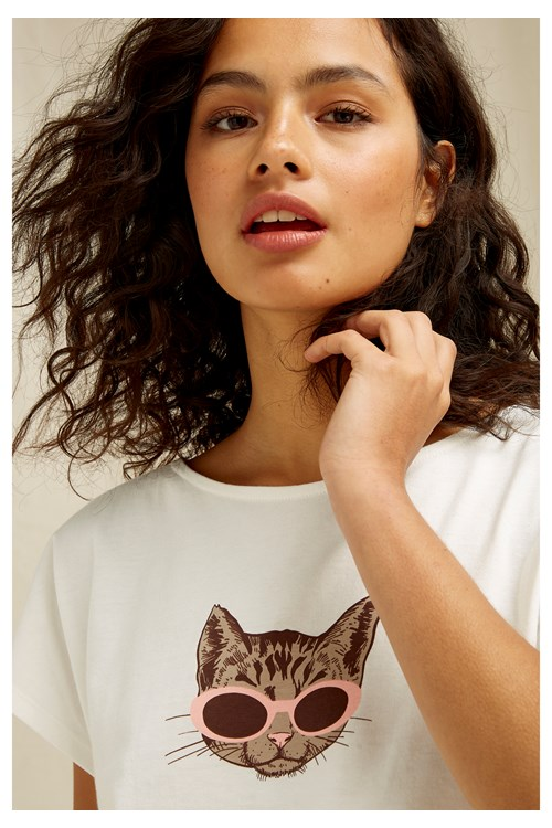 Sunglasses Cat Tee