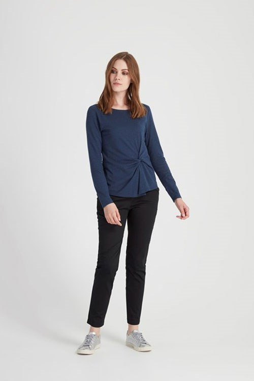 Taylor Twist Top in Blue melange