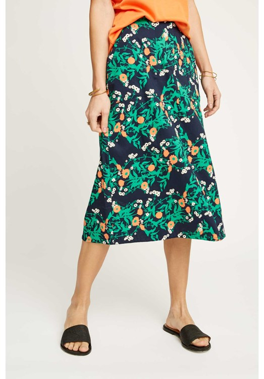 Thandie Marigold Print Skirt from People Tree