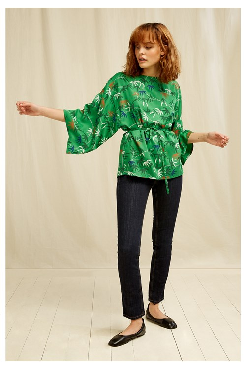 V & A Bamboo Print Top from People Tree