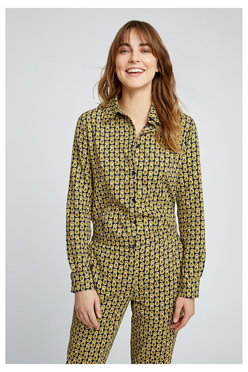 V & A Cosmic Print Shirt from People Tree