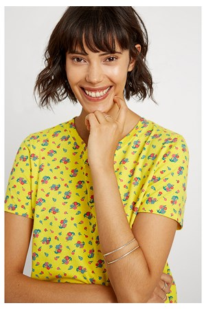 Yellow Mini Flower Tee