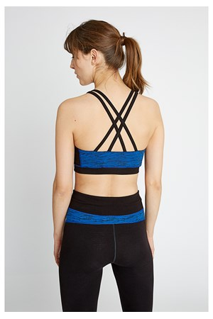 Yoga Abstract Cross Back Crop top