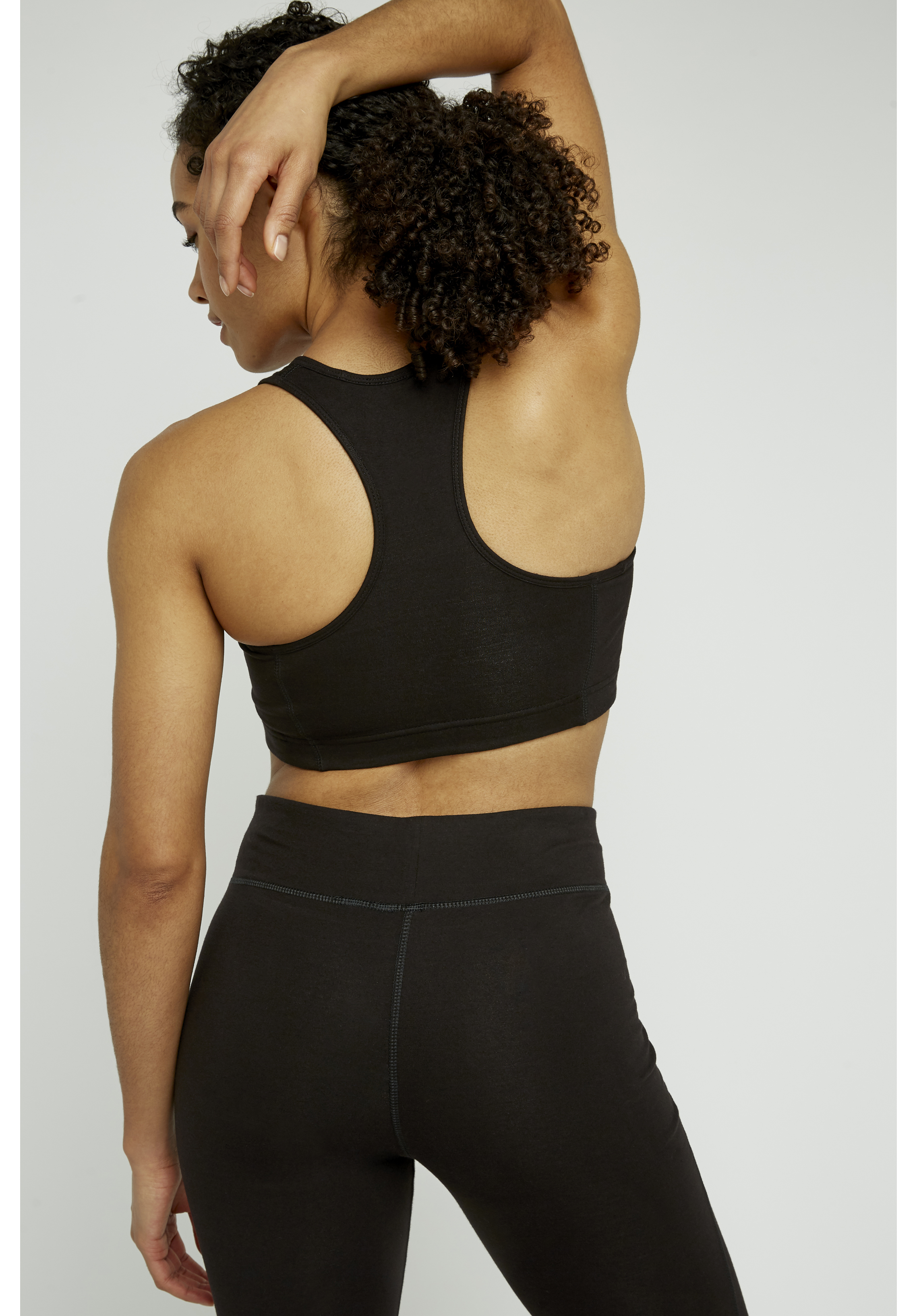 Crop Top Muscle Back Cotton Plain Front