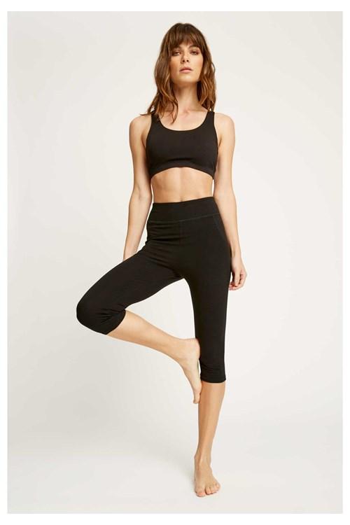 b0206139d7f2e6 Tops - Yoga Cross Back Top in Black