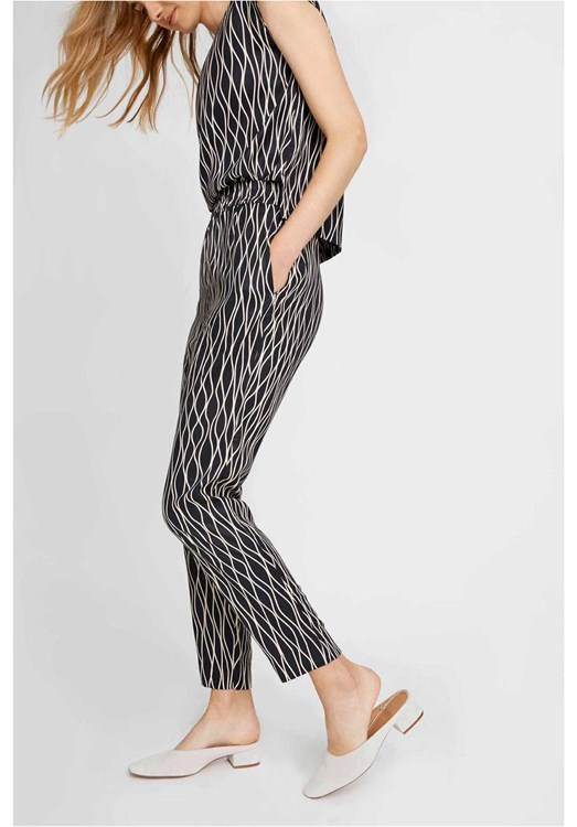 Aina Abstract Trousers in Black