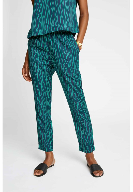 Aina Abstract Trousers in Green from People Tree