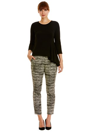 Alba Trousers in Black Print