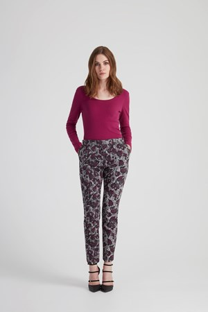 Alba Trousers in Grey multi