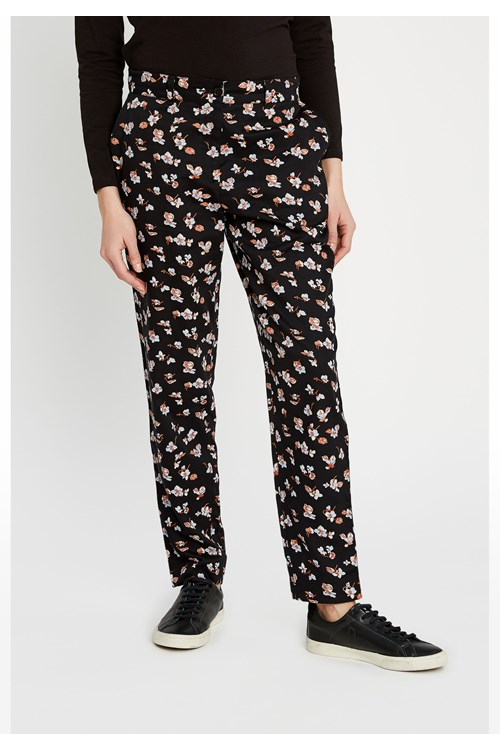 Candice Blue Floral Trousers from People Tree