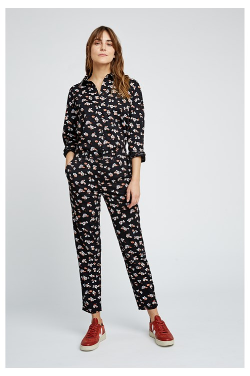 Candice Blue Floral Trousers
