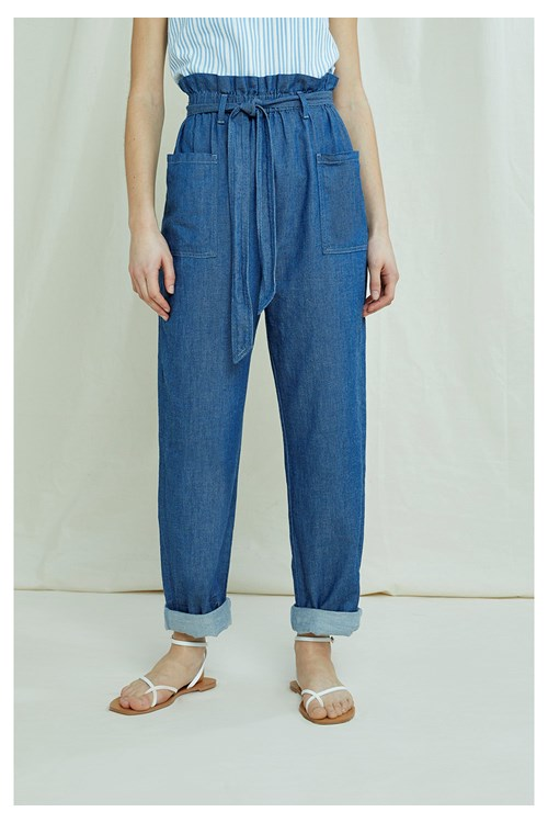 Chloe Lightweight Denim Trousers