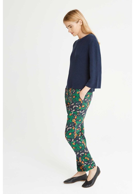 Claudia Marigold Print Trousers from People Tree