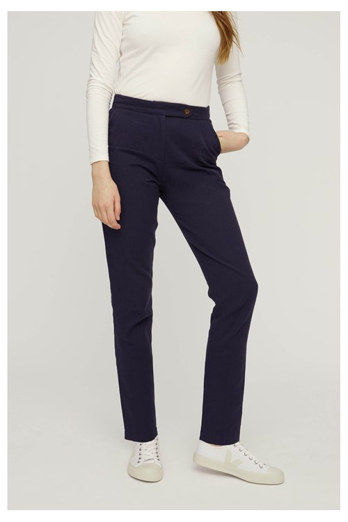 Cynthia Trousers in Navy from People Tree