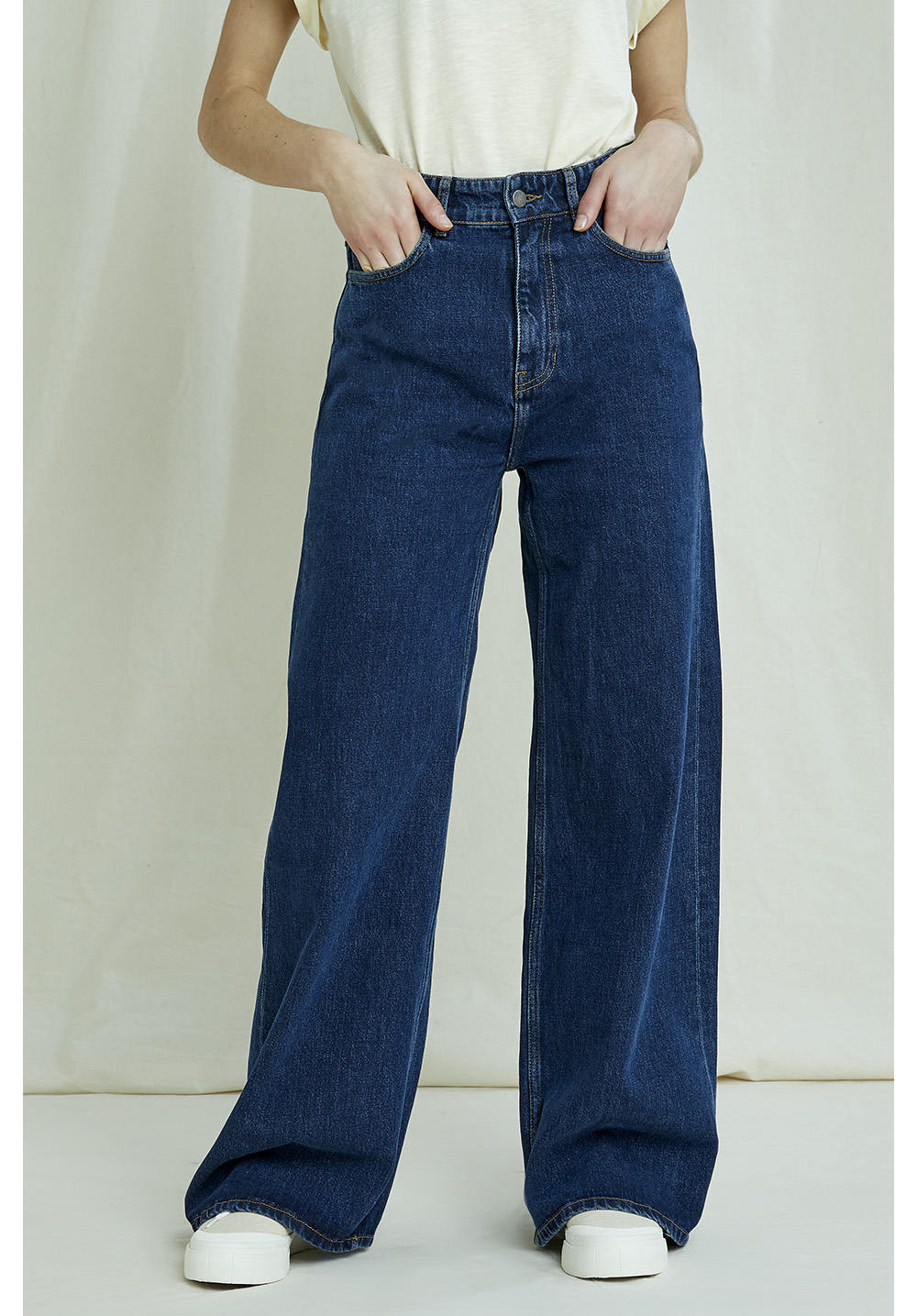 People Tree Ariel Wide Leg Jeans Vaqueros evas/é para Mujer