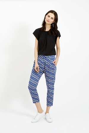Frances Printed Trousers in Blue