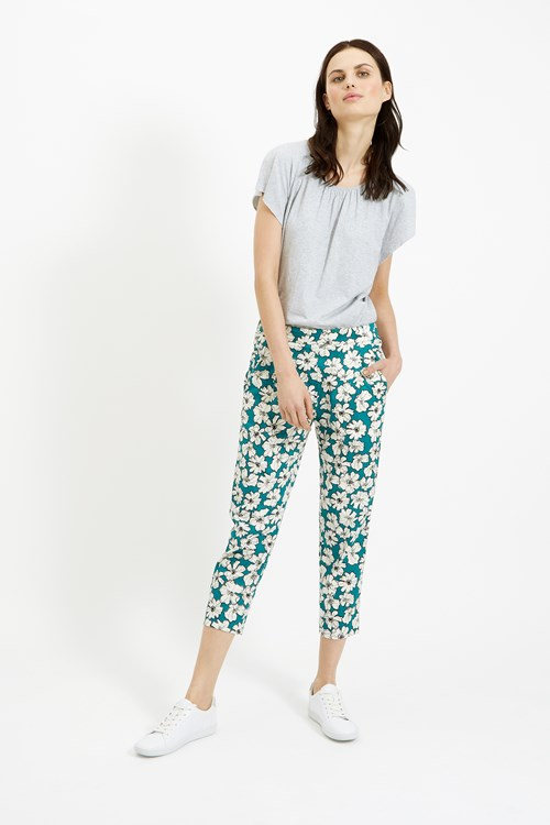 Frances Printed Trousers in Green
