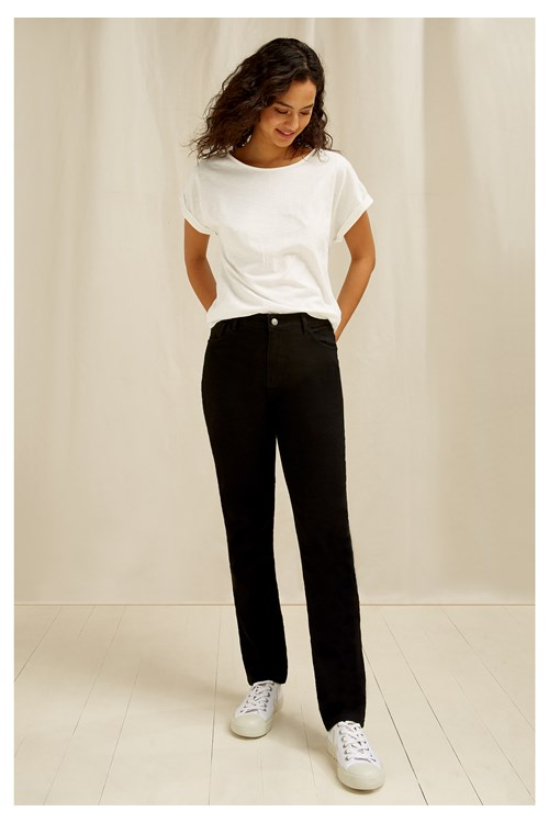 Heather Slim Fit Jeans In Black from People Tree