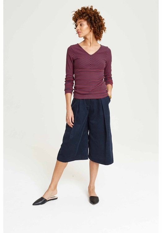 Janine Corduroy Culottes in Navy