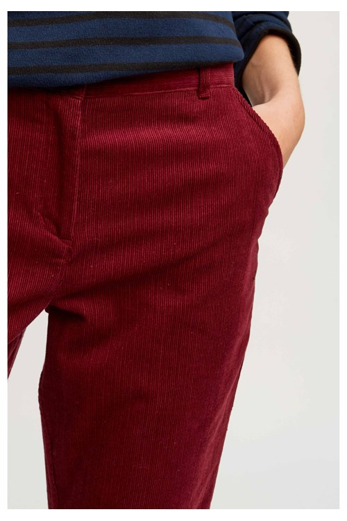 Trousers Kana Corduroy Trousers Burgundy