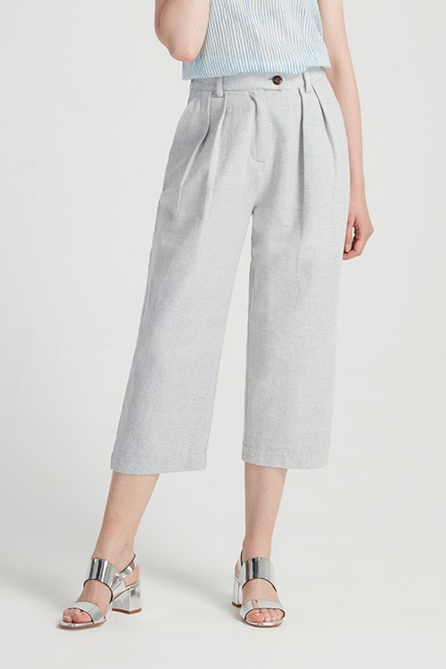 Loose Fit Trousers in Blue