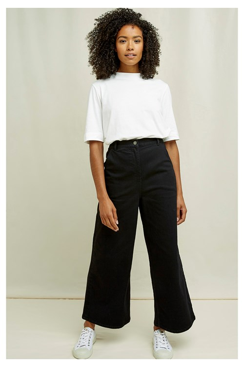 Rochelle Wide Leg Trousers In Black