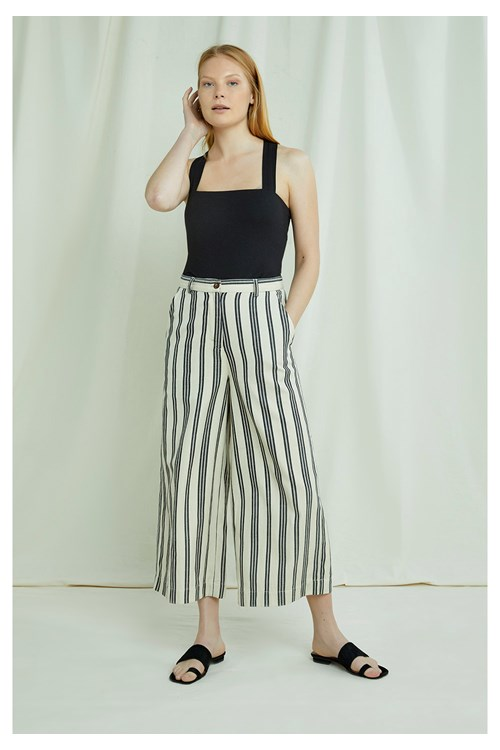Shauna Striped Trousers