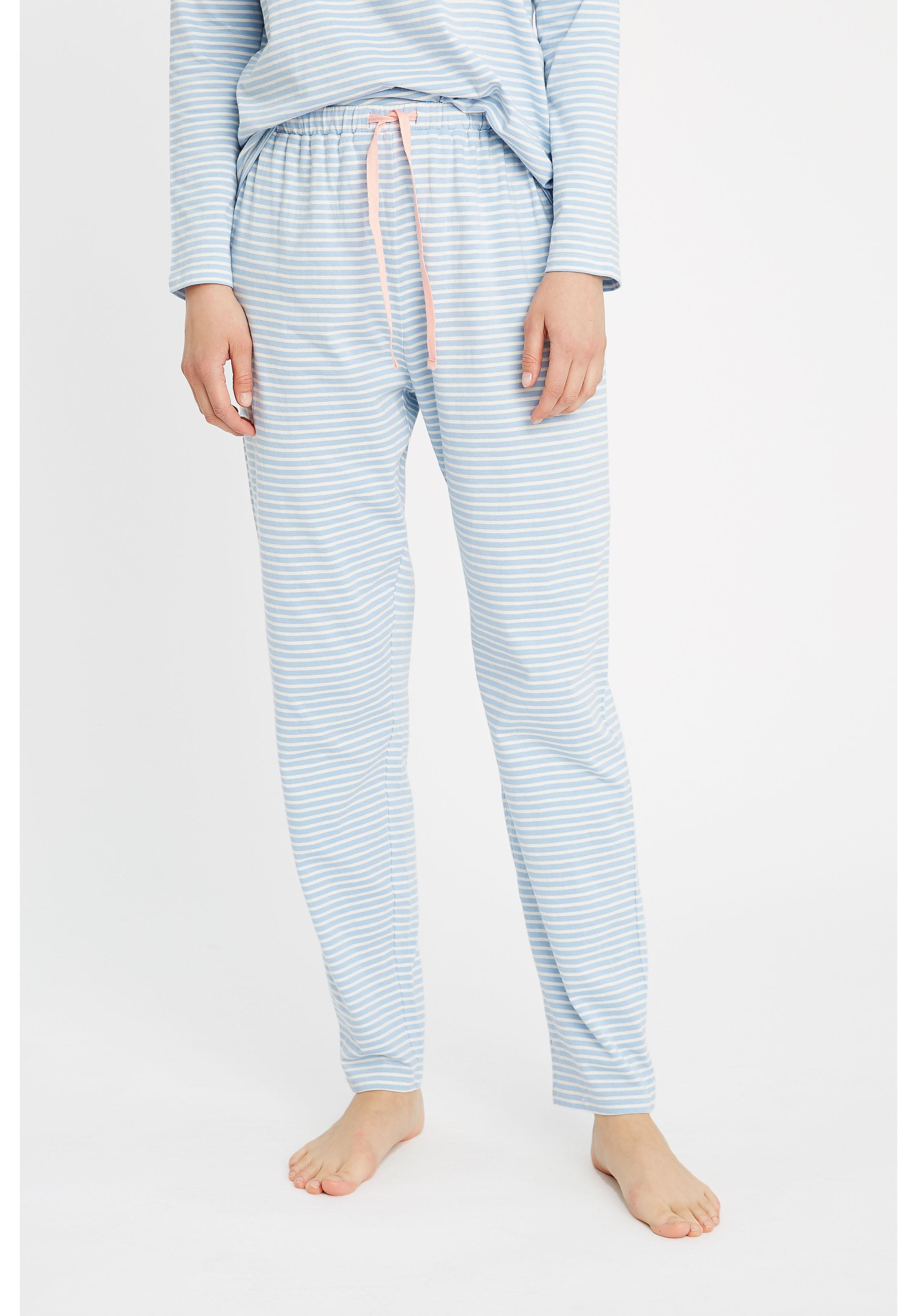 Peopletree Womens Stripe Pyjama Trousers Bottoms