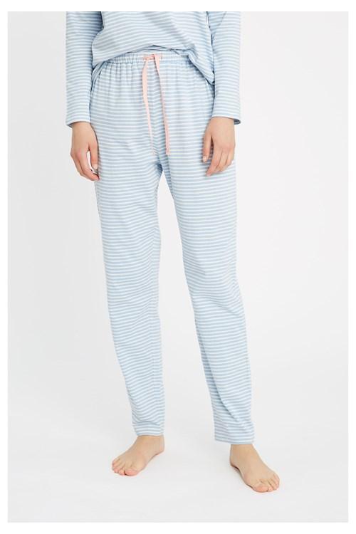 Stripe Blue Pyjama Trousers from People Tree
