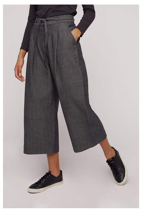 Tallulah Herringbone Grey Trousers
