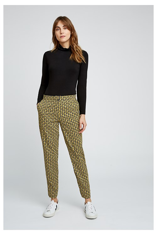 V & A Cosmic Print Trousers from People Tree