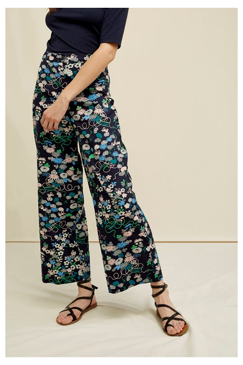 V&A Floral Print Trousers