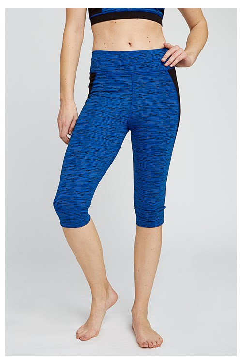 Yoga Abstract Cropped Leggings
