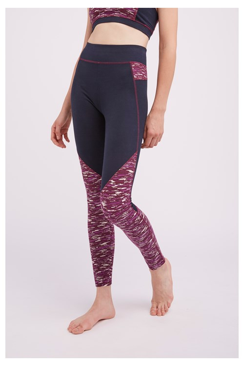 Yoga Abstract Leggings In Purple from People Tree