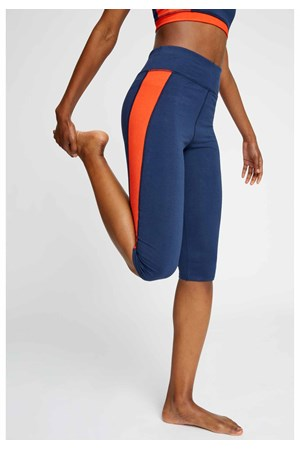 Yoga Colourblock Cropped Leggings in Fiesta