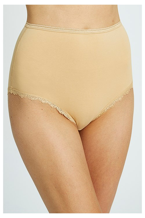 High Waist Briefs in Almond