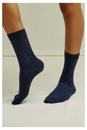 Organic Cotton Socks in Navy