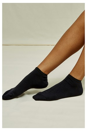 Organic Cotton Trainer Socks in Black