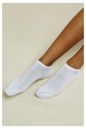 Organic Cotton Trainer Socks in White